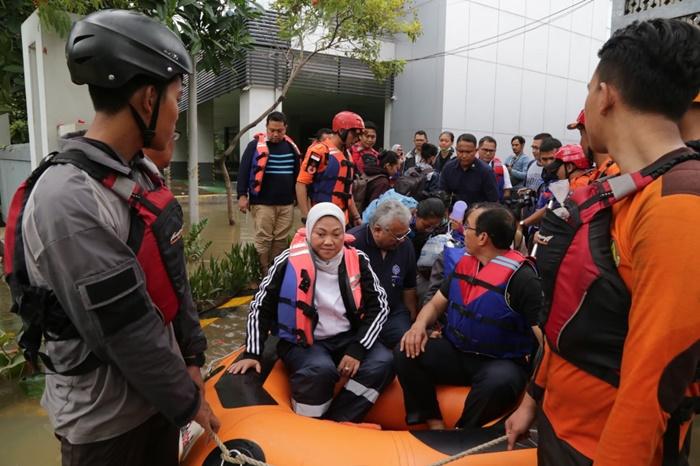 Banjir di BBPLK Kemnaker Bekasi berangsur surut, ini kata Menaker Ida