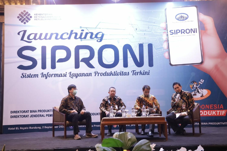 Dukung Gerakan Produktivitas Nasional, Kemnaker Luncurkan SIPRONI