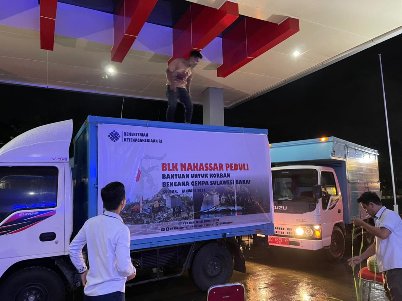 Kemnaker Kirim Bantuan Logistik untuk Korban Gempa Mamuju-Majene