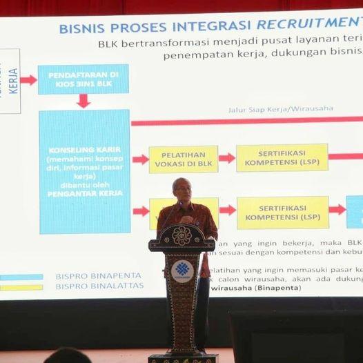 Kemnaker Upayakan Transformasi BLK Terintegrasi di Pasar Kerja