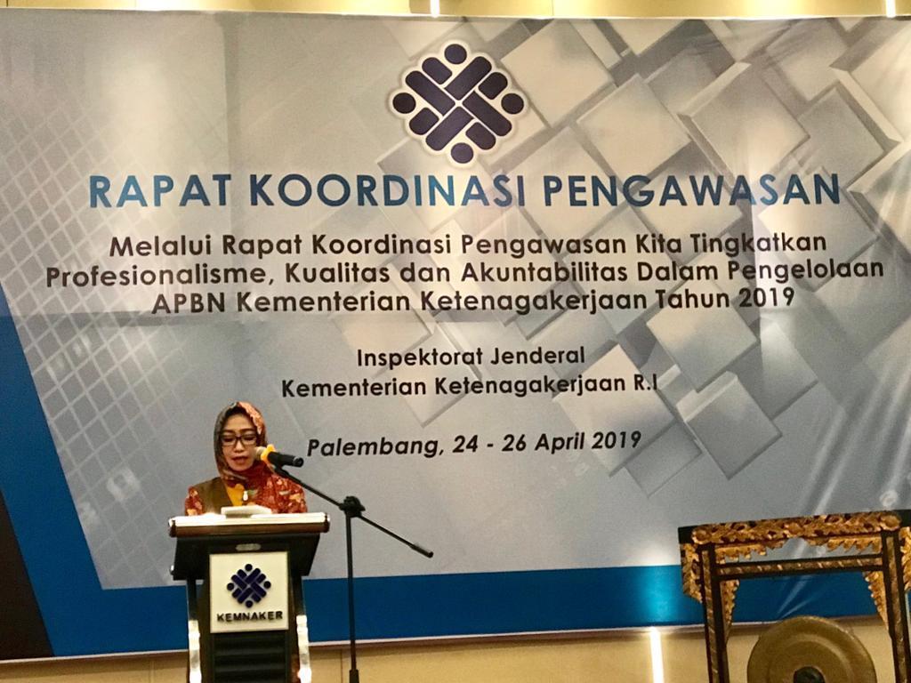 Rapat Koordinasi Pengawasan Inspektorat Jenderal Kemnaker 2019