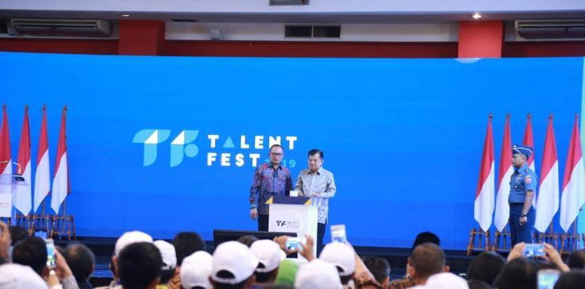 Wapres JK Buka Talent Fest dan Job Fair 2019 Di Kemayoran