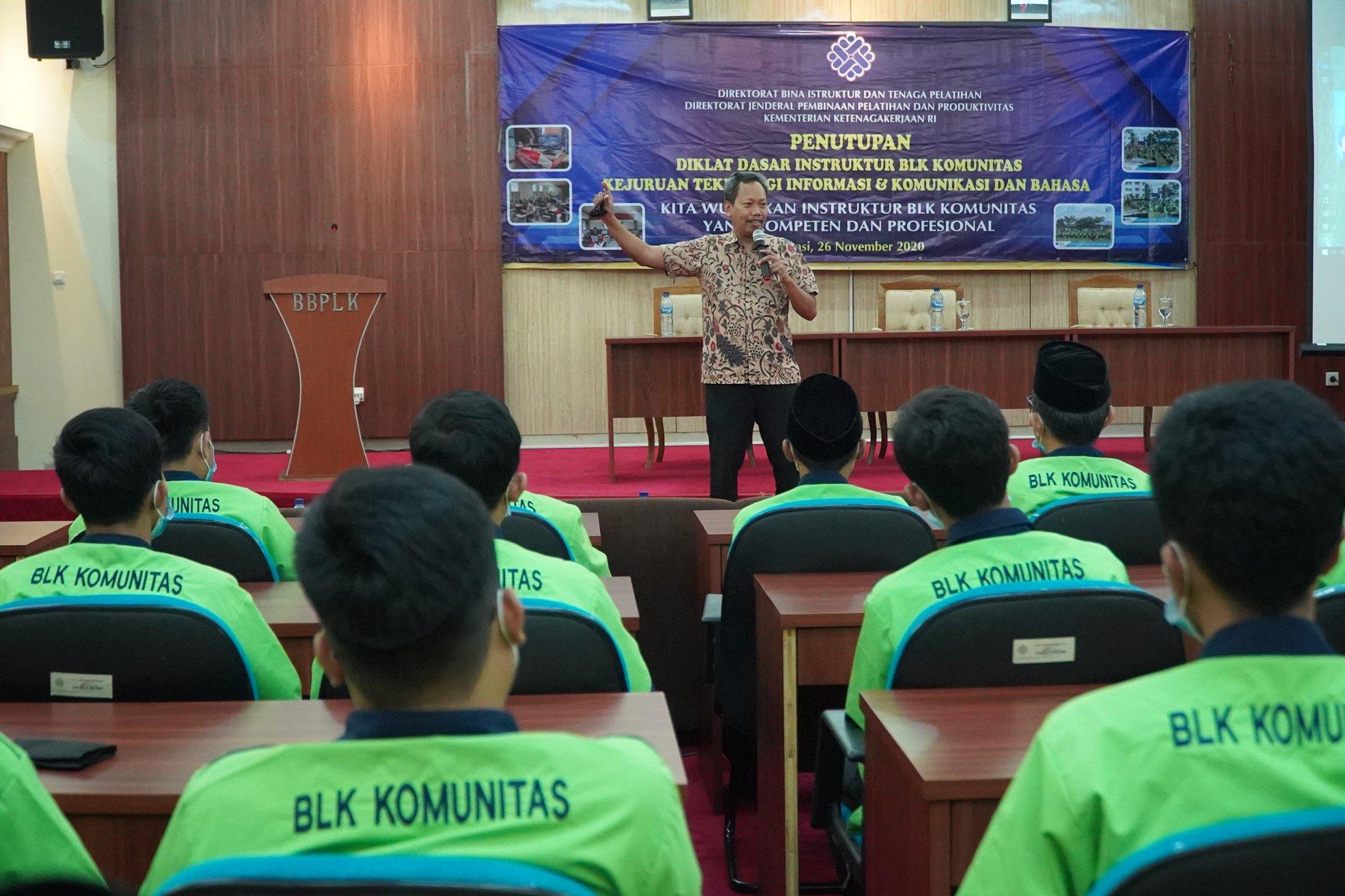 Wujudkan Instruktur BLK Komunitas Kompeten & Profesional