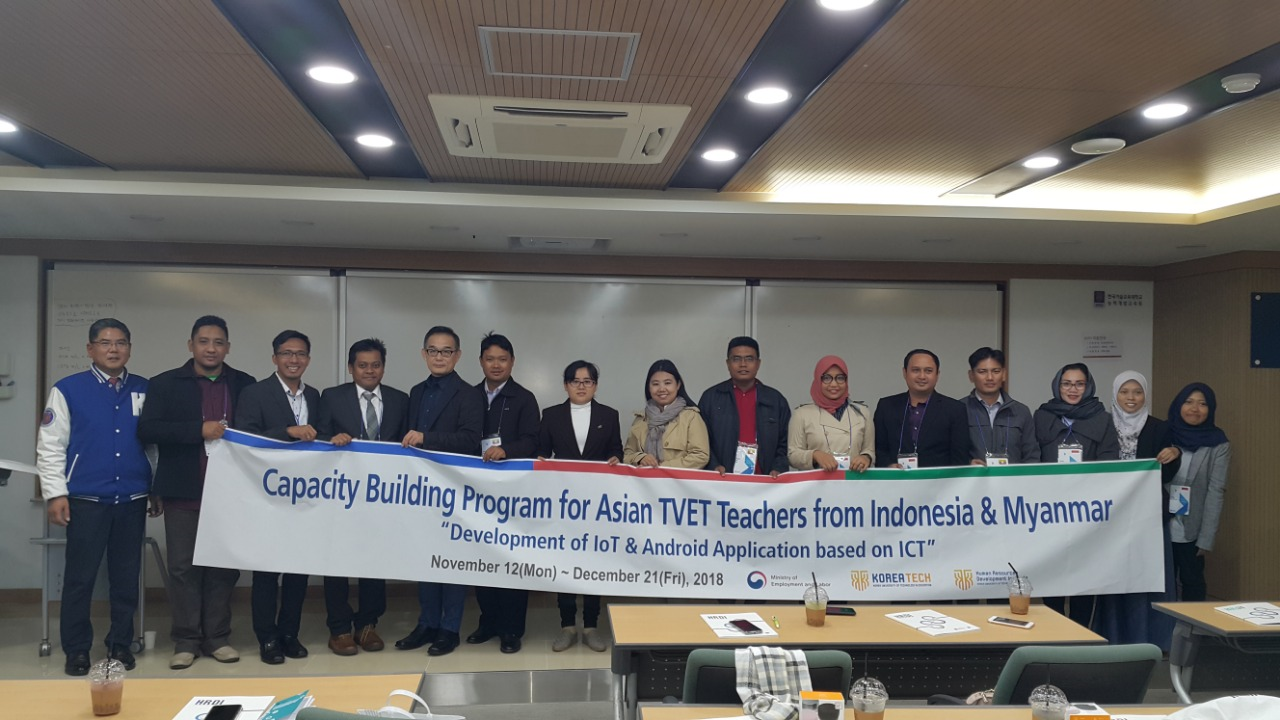 Capacity Building Program for Asian TVET Teachers from Indonesia & Myanmar di Koreatech University of Technology