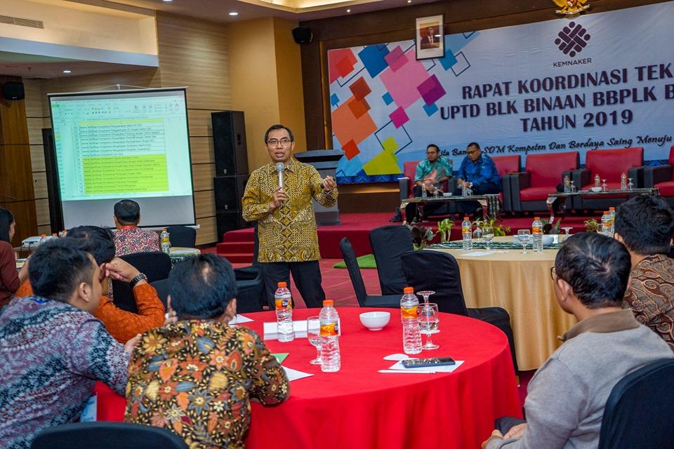 Dokumentasi Rakor Teknis UPTD BLK Binaan BBPLK Bekasi Sesi 2.
